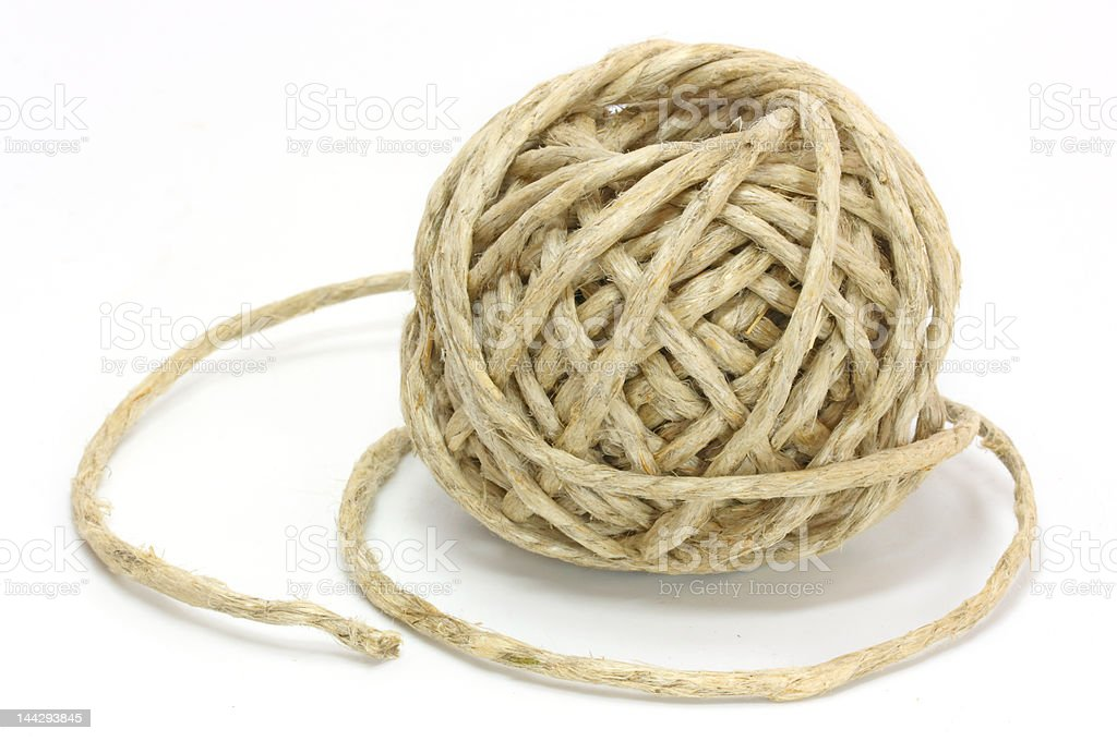 clew of rope royalty-free stock photo