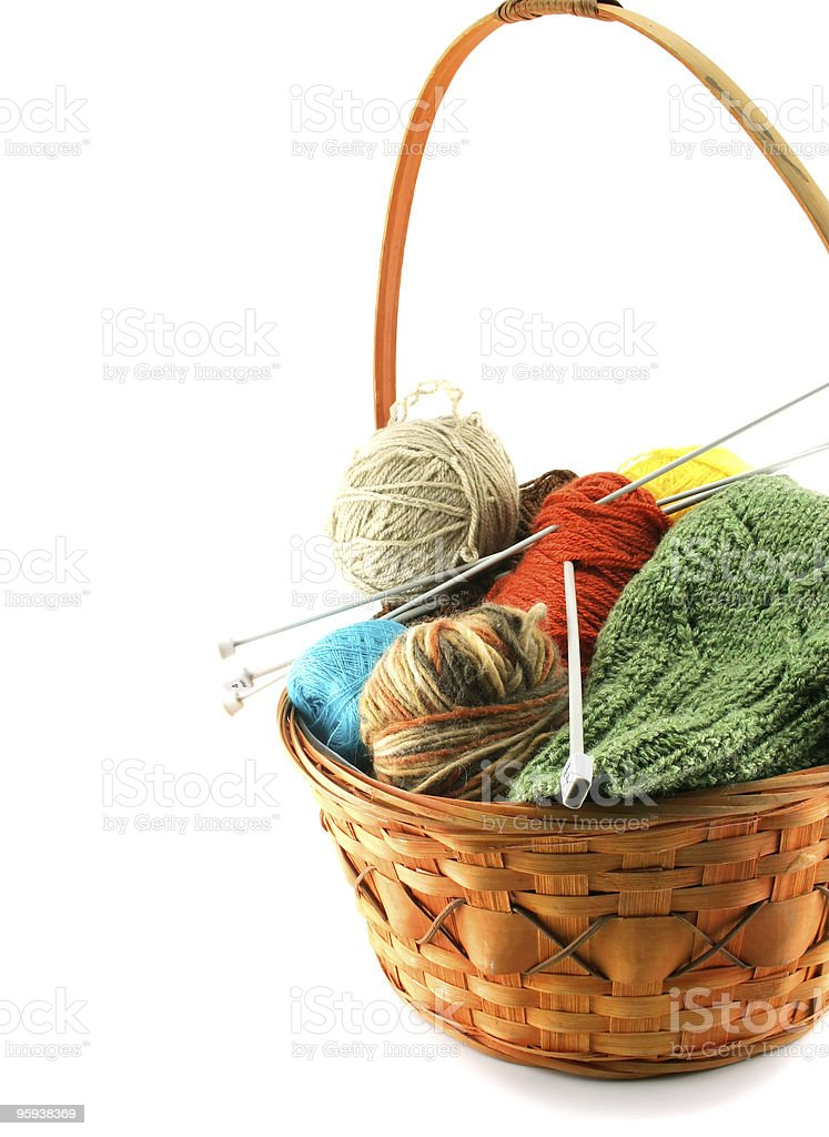 Clewes in a basket isolated stock photo