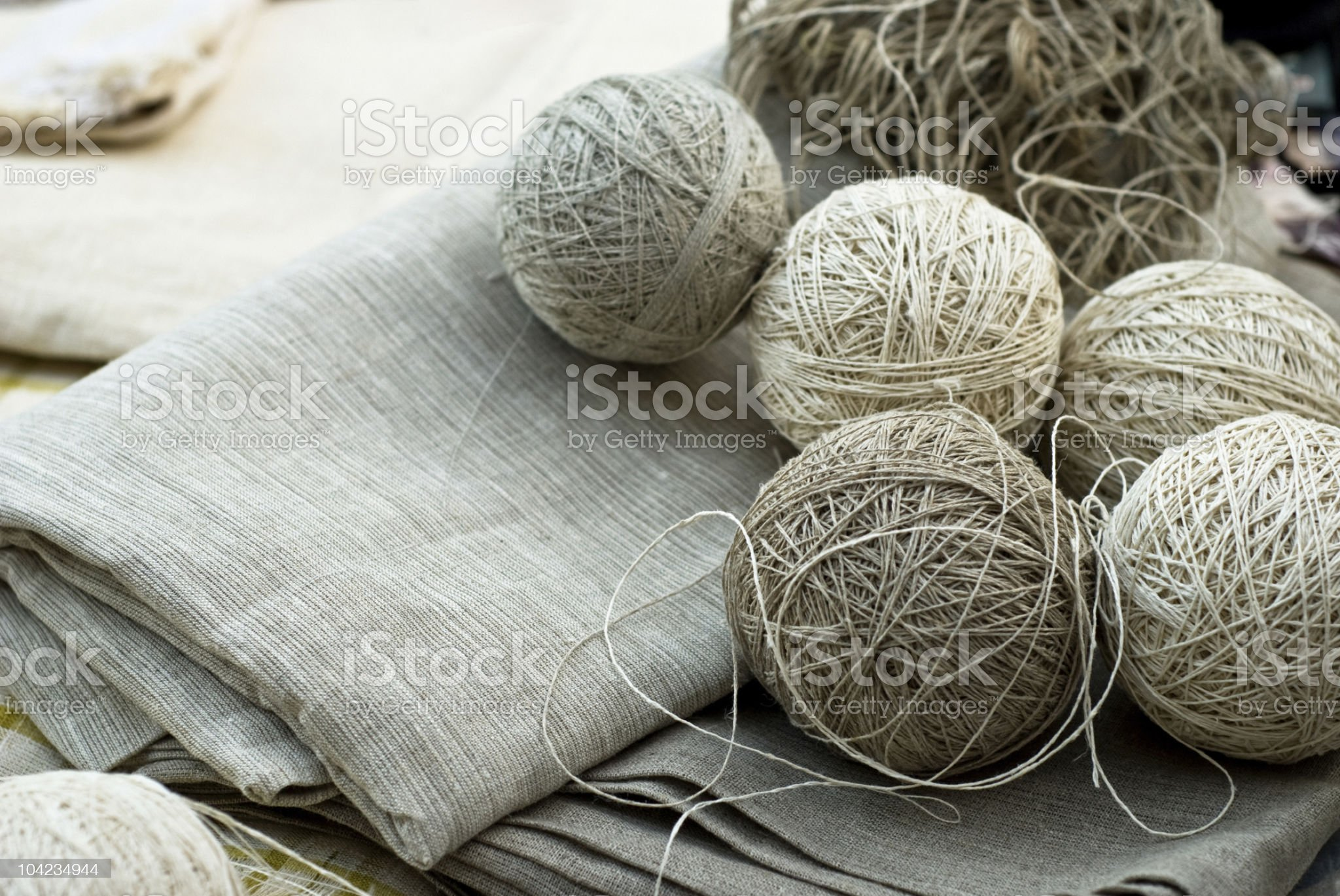 Clews and textile royalty-free stock photo