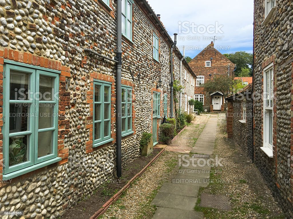 Cley Next the Sea, in North Norfolk, UK stock photo