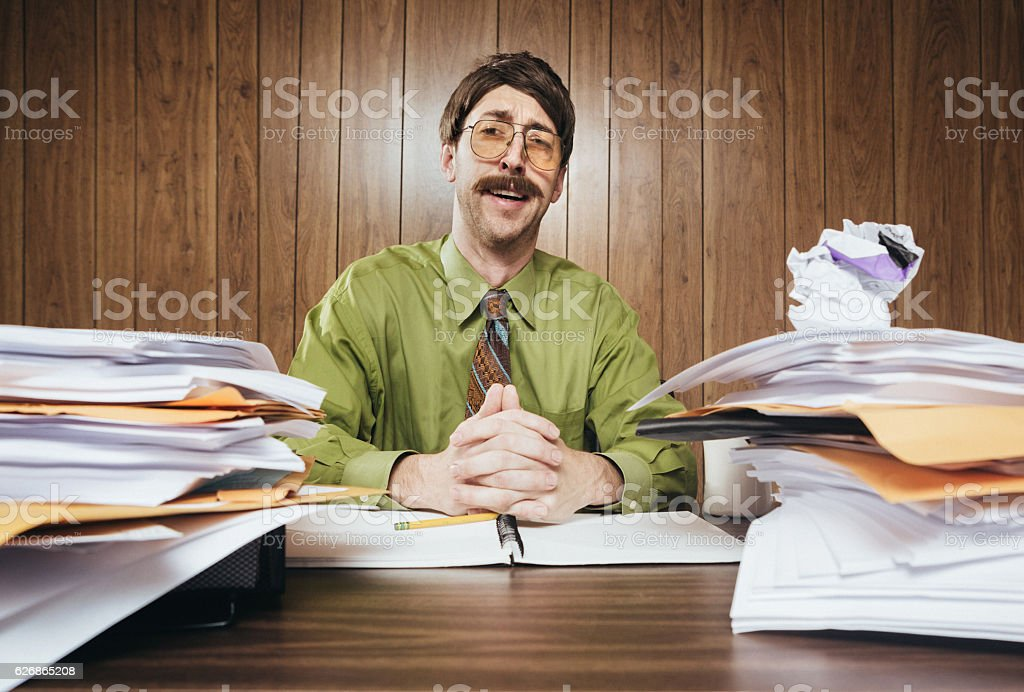 Cliche Office Salesman stock photo