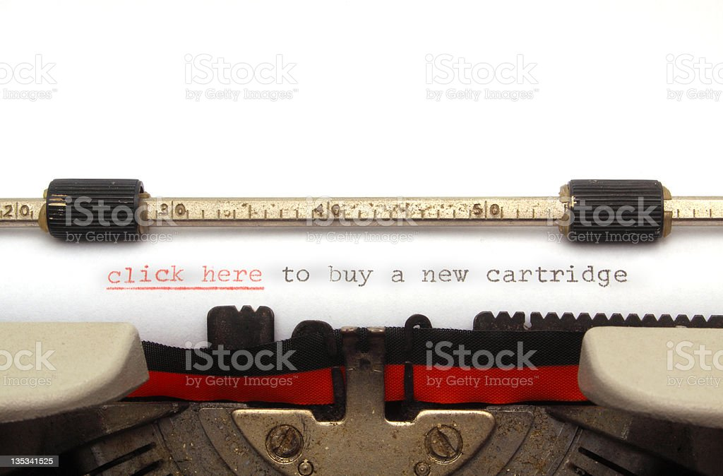 Click here to buy a new cartridge royalty-free stock photo
