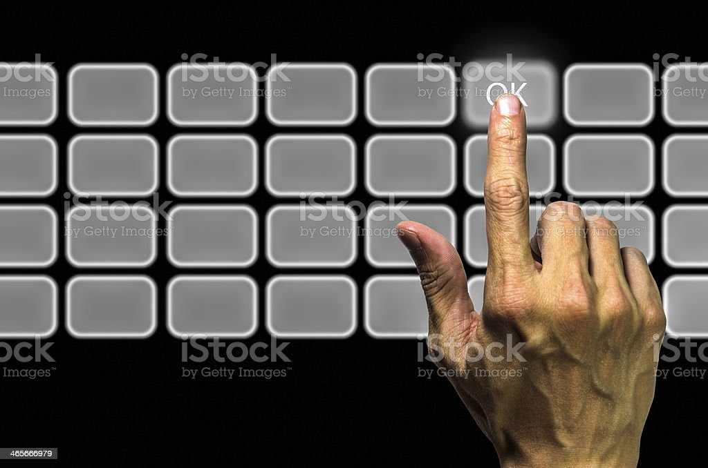 Click OK stock photo