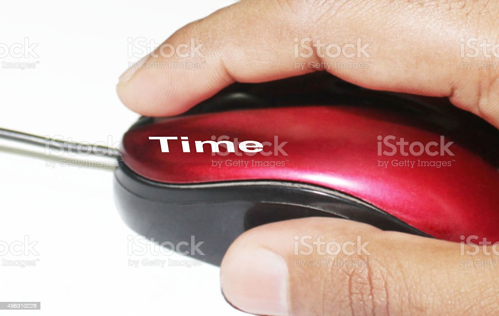 Click on time stock photo