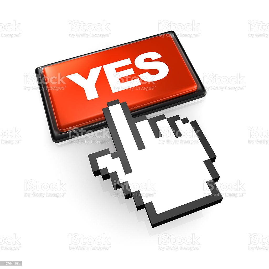 Click on YES Button royalty-free stock photo