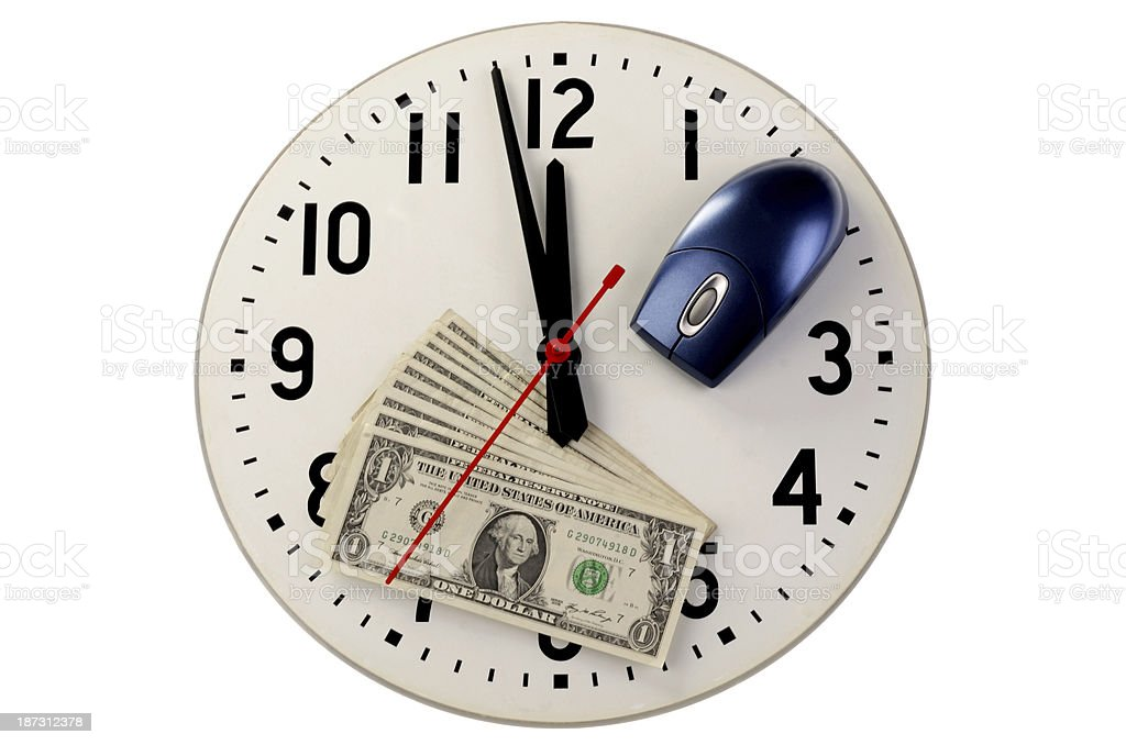 Click Time Money royalty-free stock photo