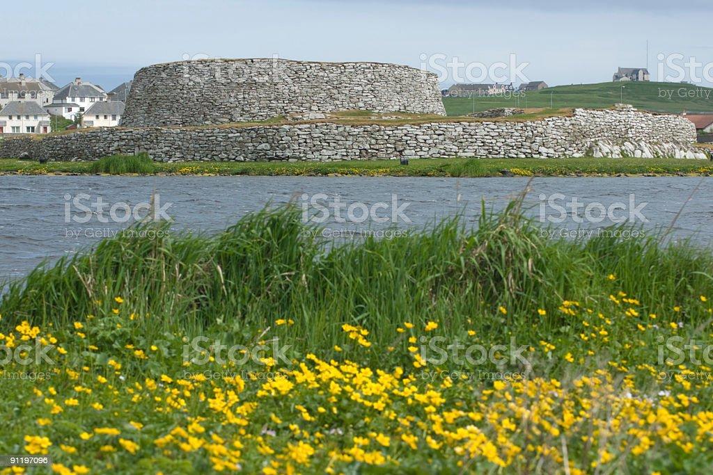 Clickimin Broch, Lerwick, Shetland stock photo