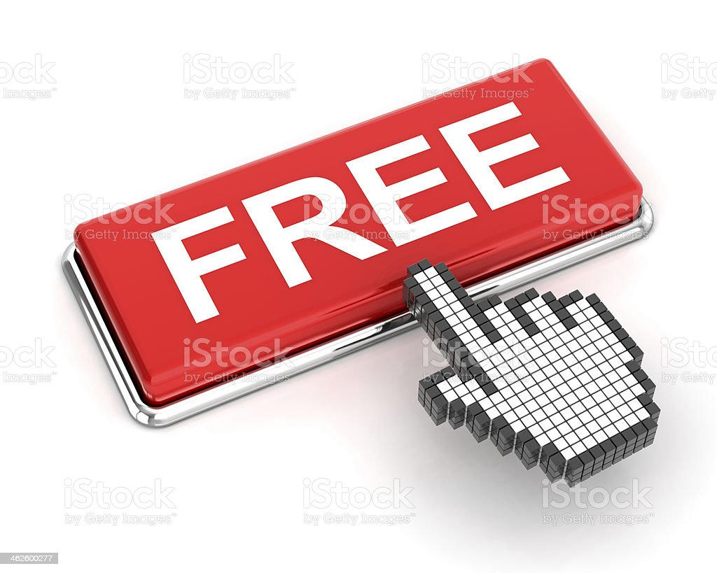 Clicking a free button royalty-free stock photo