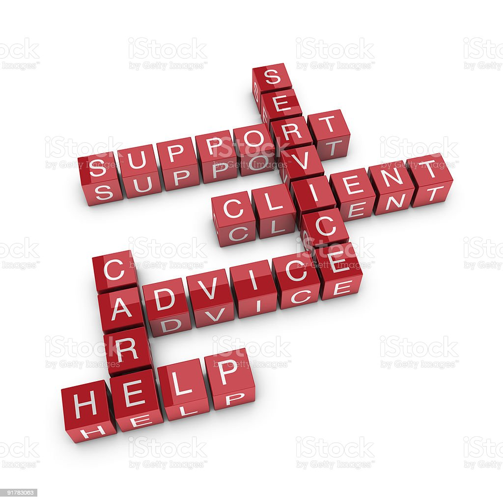 Client support crossword royalty-free stock photo