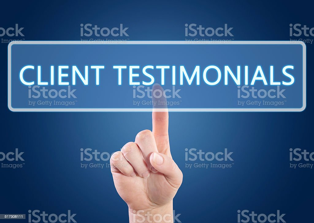 Client Testimonials stock photo