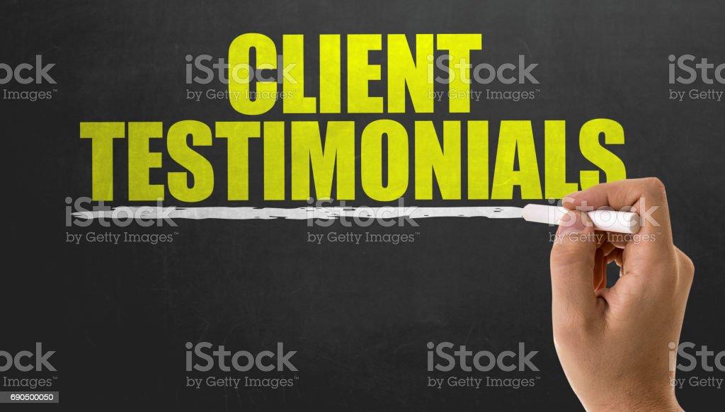 Clients Testimonials stock photo