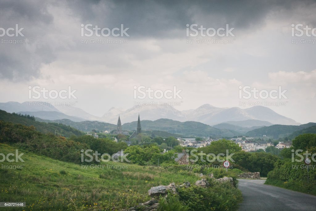Clifden in County Galway, Ireland stock photo