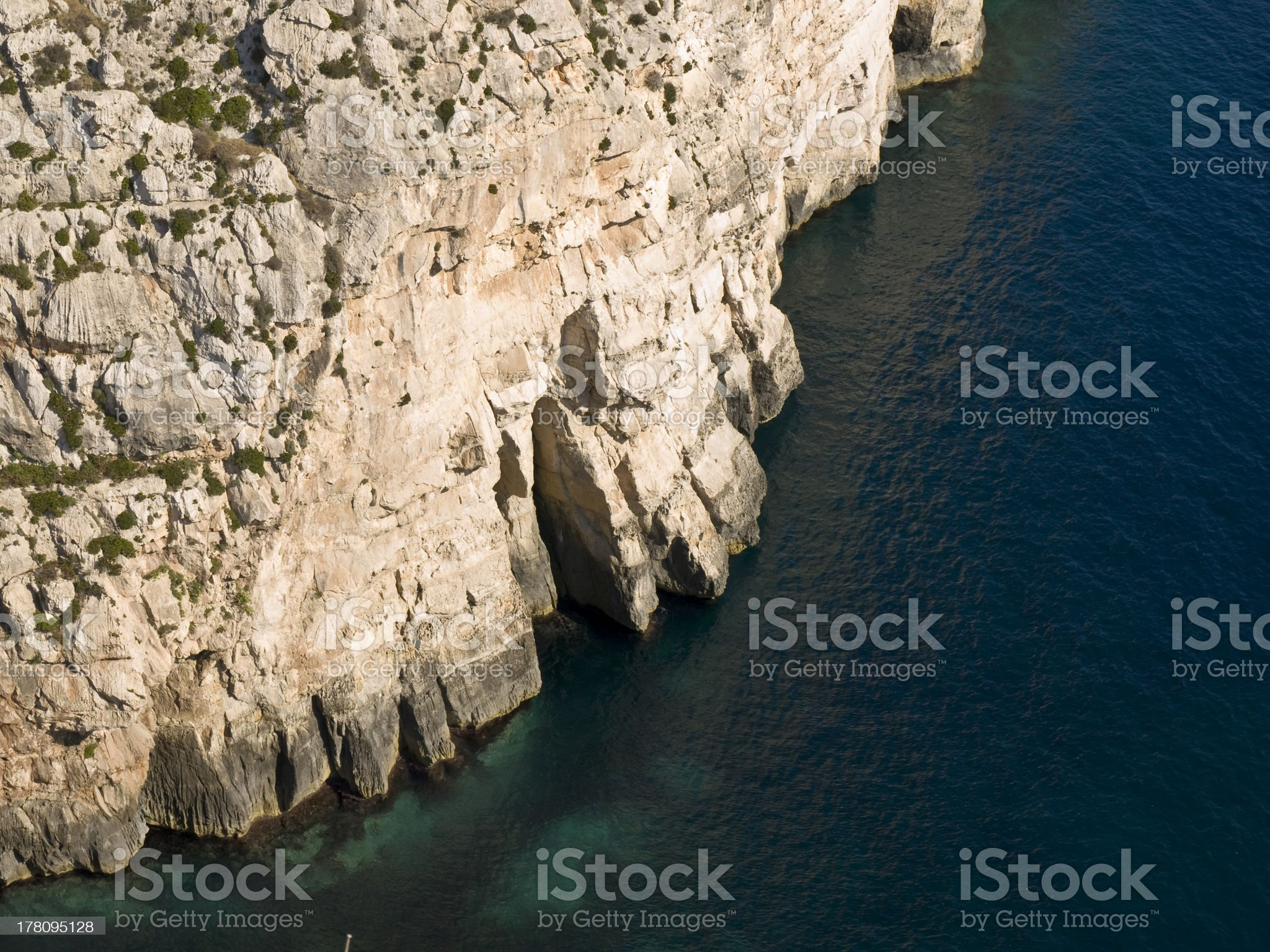 Cliff and Ocean royalty-free stock photo
