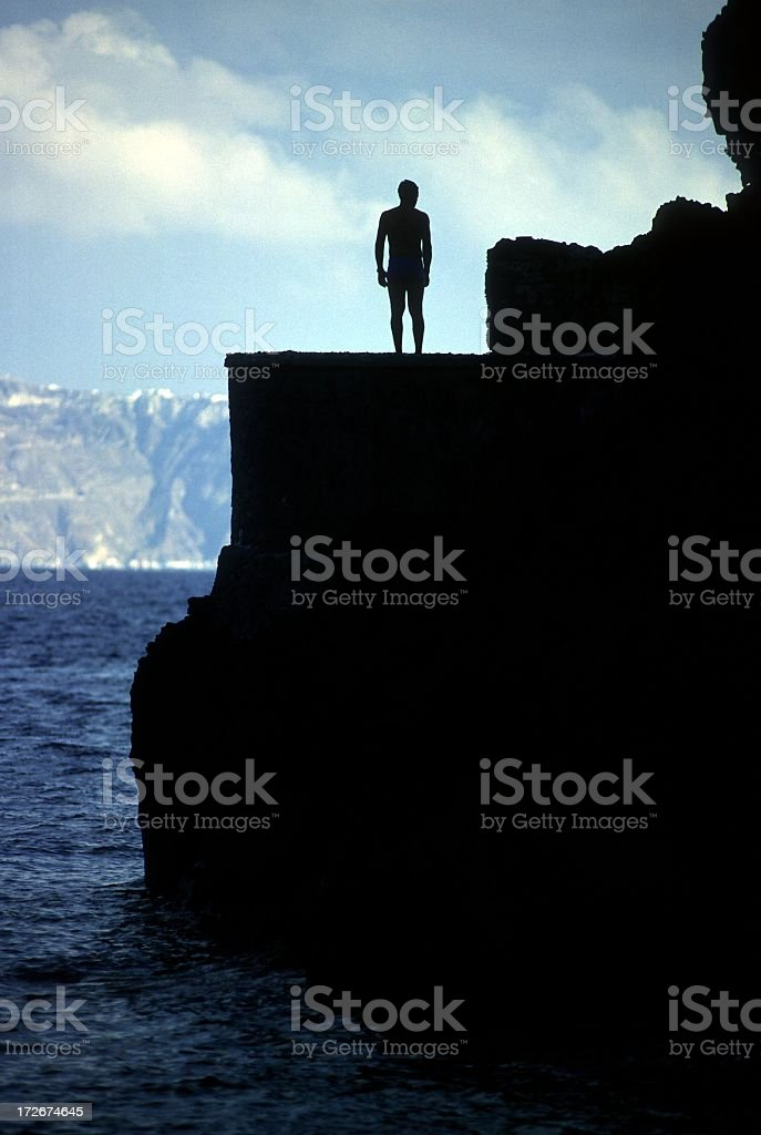 Cliff diver royalty-free stock photo