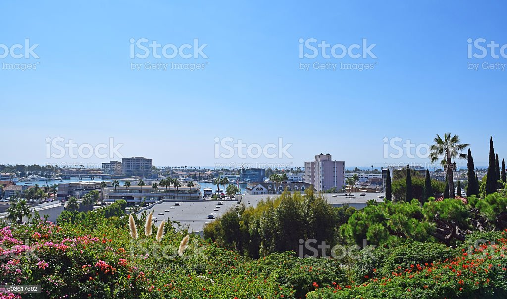 Cliff Dr Park, Newport Beach, California stock photo
