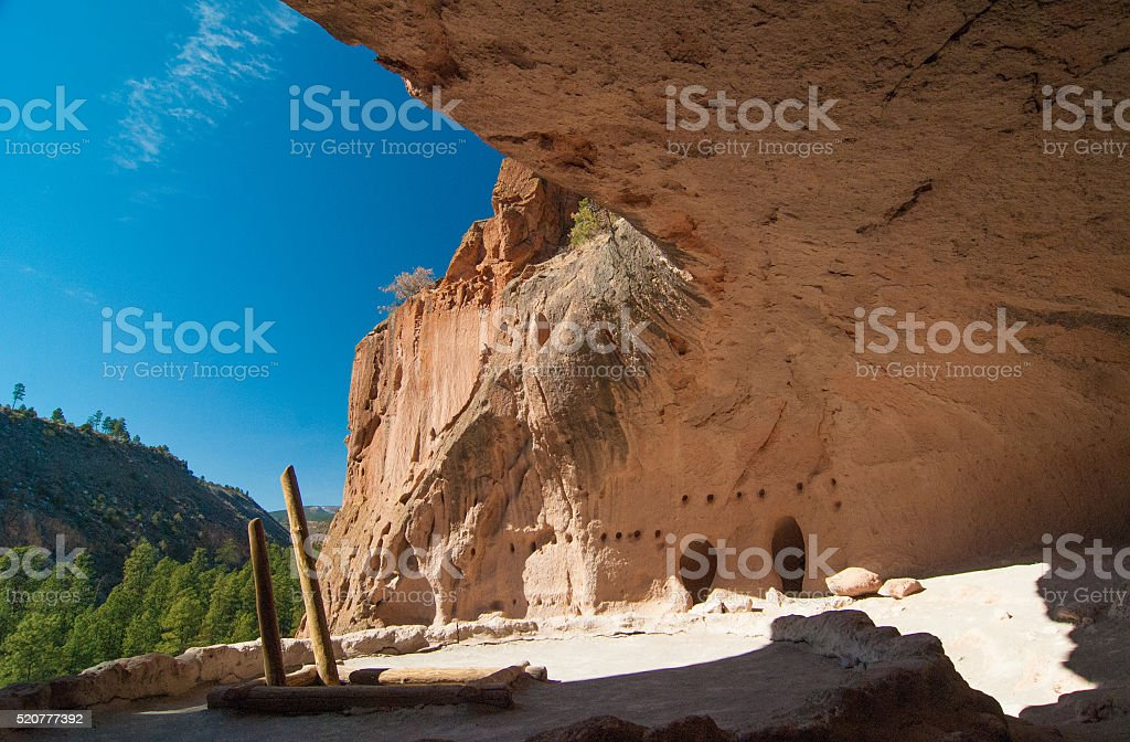 Cliff Dwelling in New Mexico stock photo