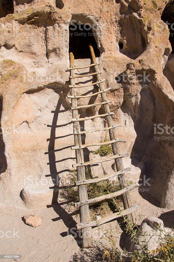 Cliff Dwelling Ladder stock photo