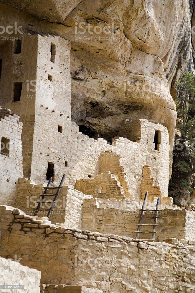 cliff dwelling royalty-free stock photo