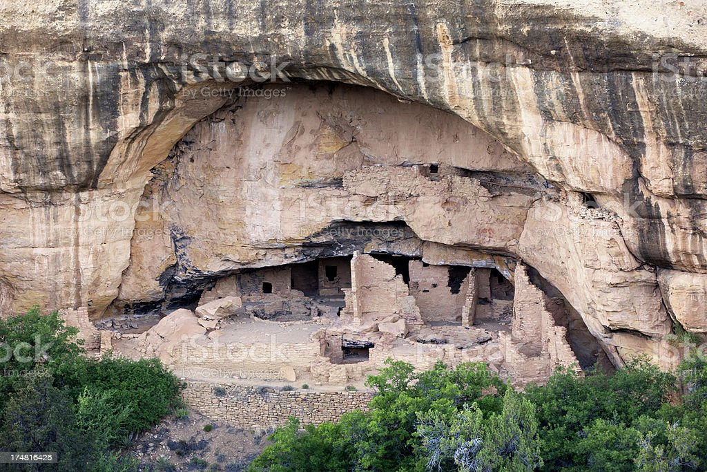 Cliff Dwelling Ruins in Mesa Verde National Park, Colorado royalty-free stock photo