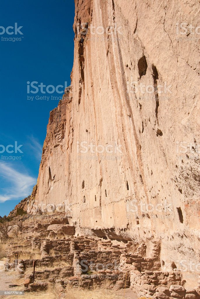 Cliff Dwellings and Adobe Walls stock photo