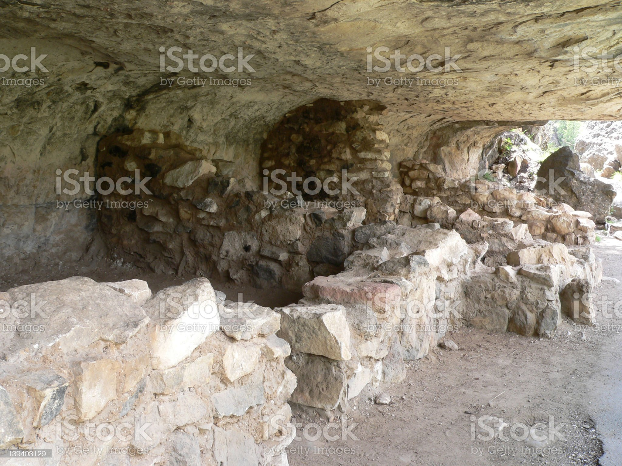 Cliff Dwellings, Walnut Canyon royalty-free stock photo