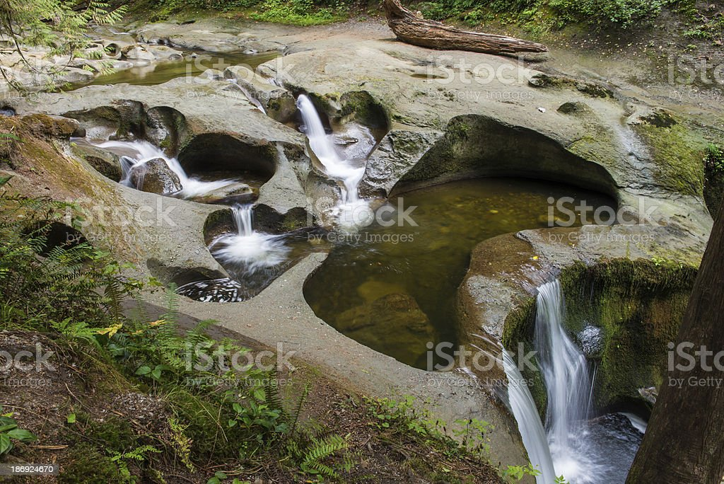 Cliff Falls in Kanaka Creek Park, Maple Ridge, BC. royalty-free stock photo