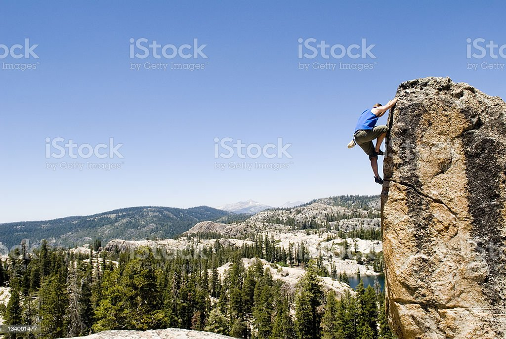 cliff hanger royalty-free stock photo