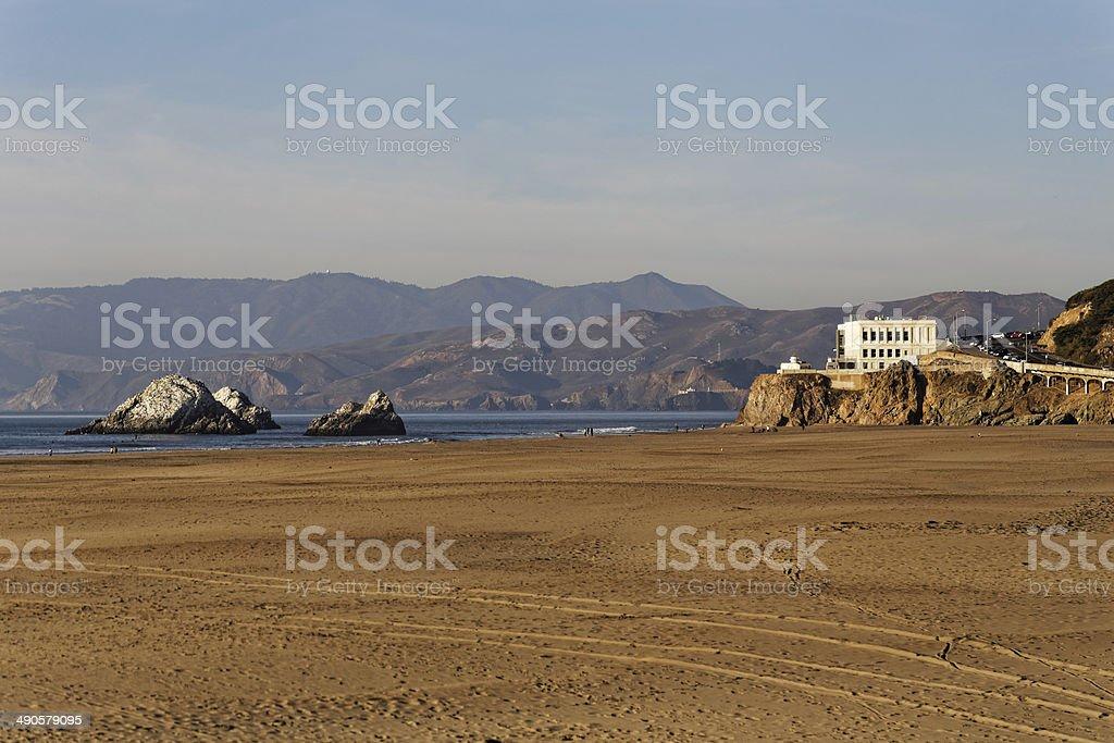 Cliff House and Ocean Beach San Francisco royalty-free stock photo
