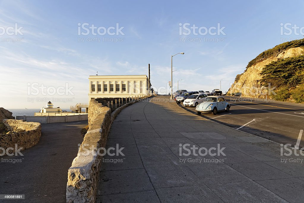Cliff House and old car in San Francisco royalty-free stock photo
