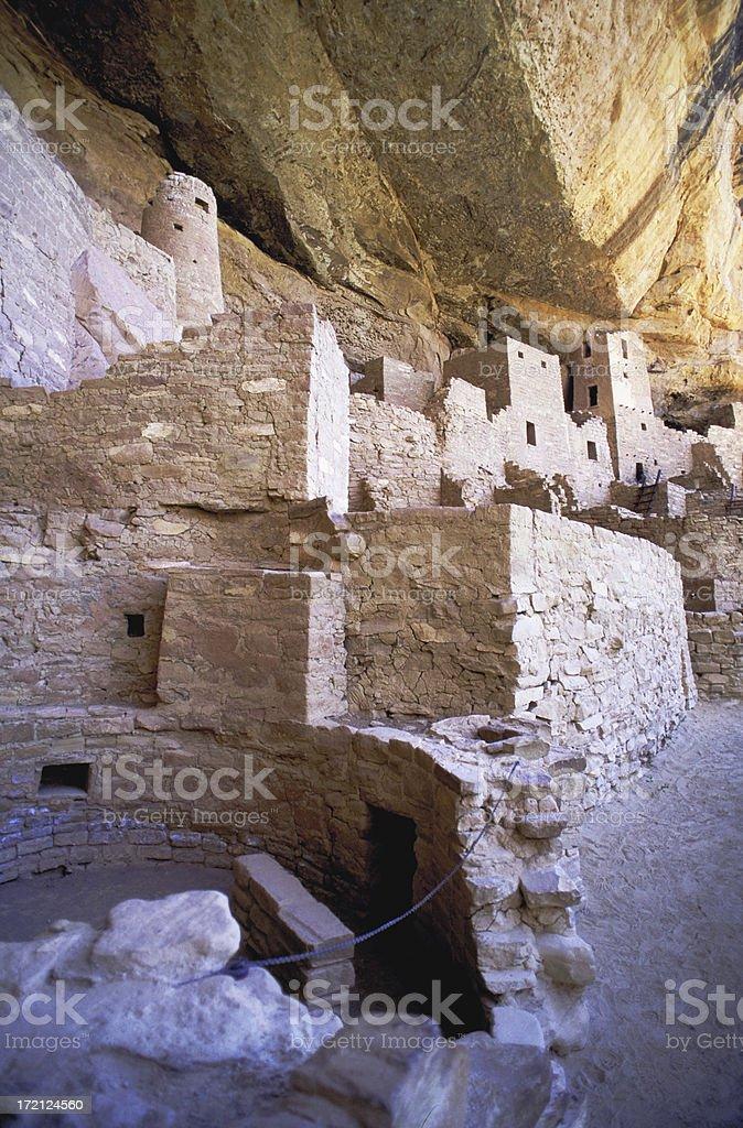 Cliff House in Mesa Verde, Colorado. stock photo