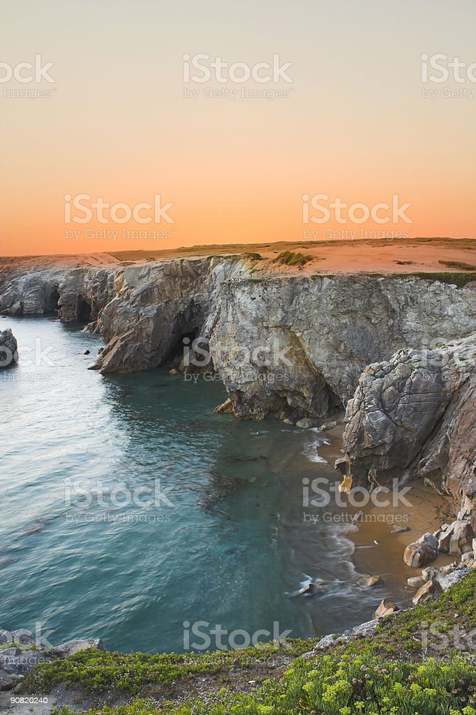 cliff in france royalty-free stock photo