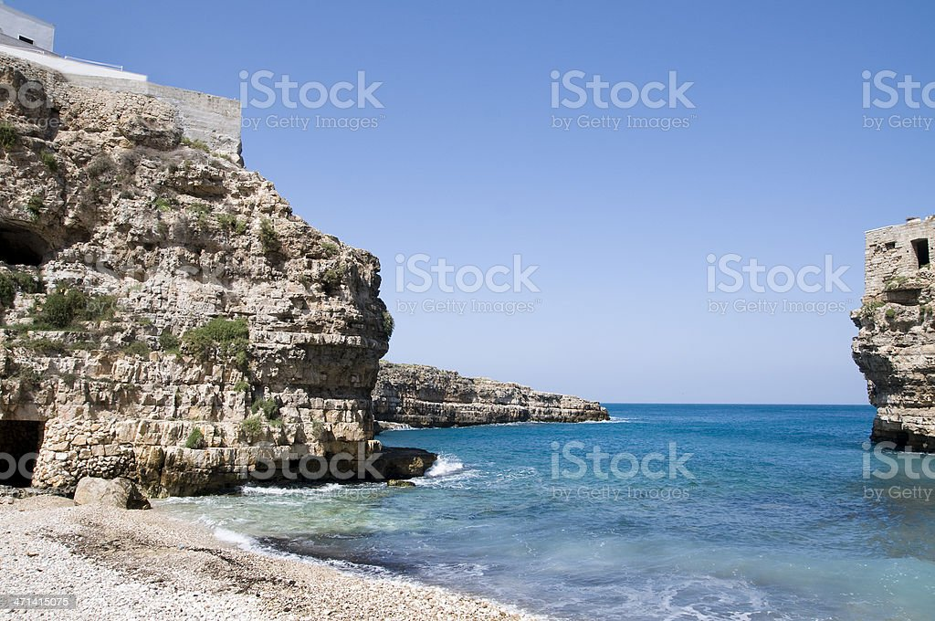 Cliff in Puglia stock photo