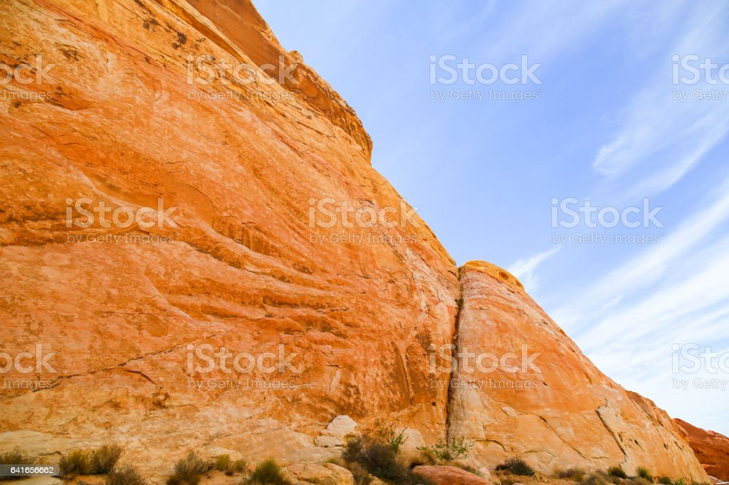 Cliff in the Valley of Fire stock photo