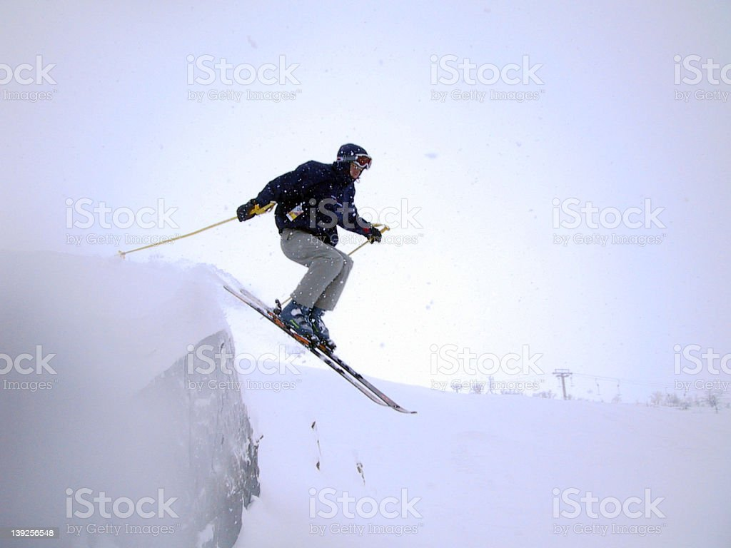 Cliff jump royalty-free stock photo