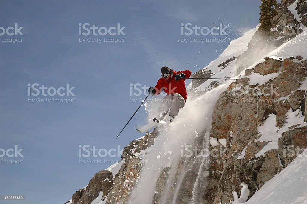 Cliff Jumping 02 royalty-free stock photo