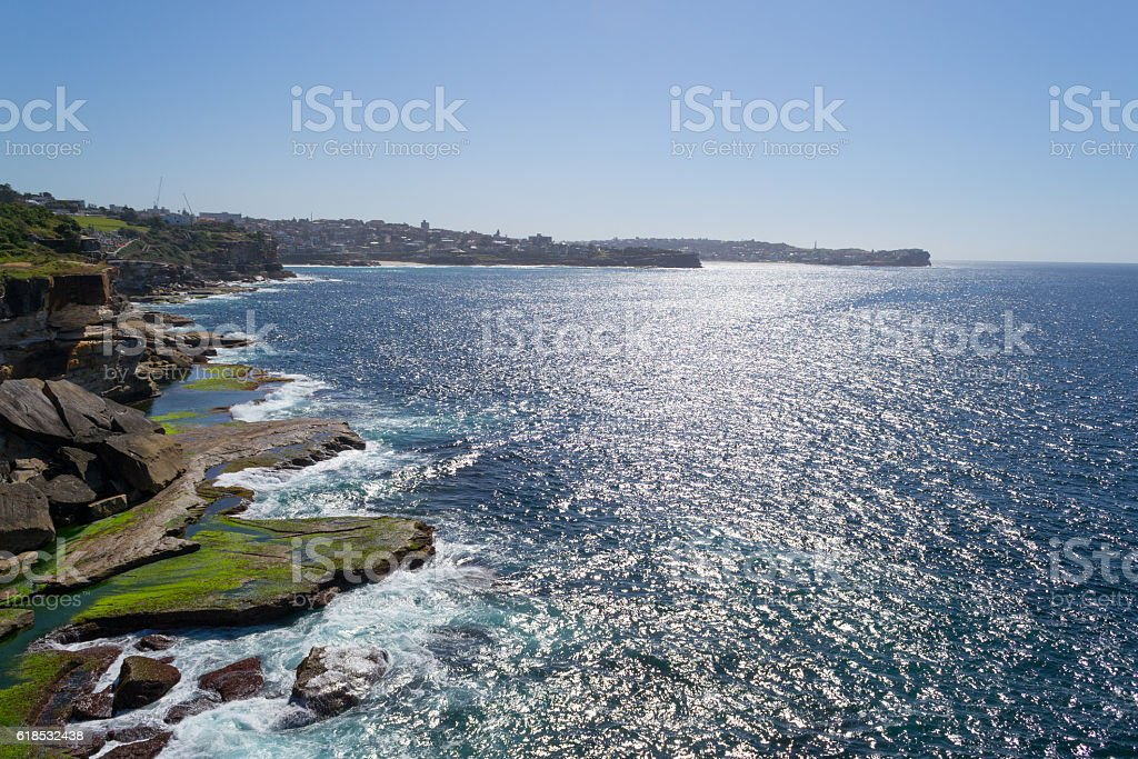 Cliff landscape in Sydney stock photo