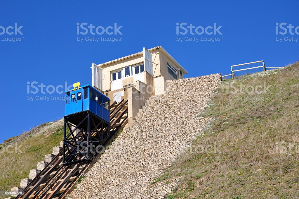 Cliff Lift in Southbourne stock photo