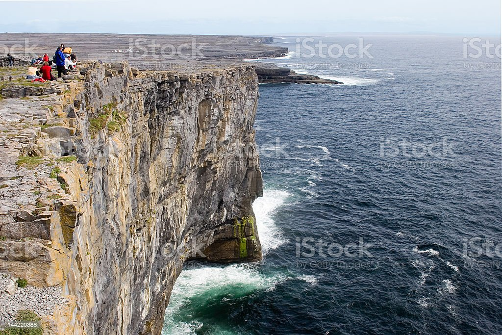 Cliff of Don Aengus, Inishmore stock photo