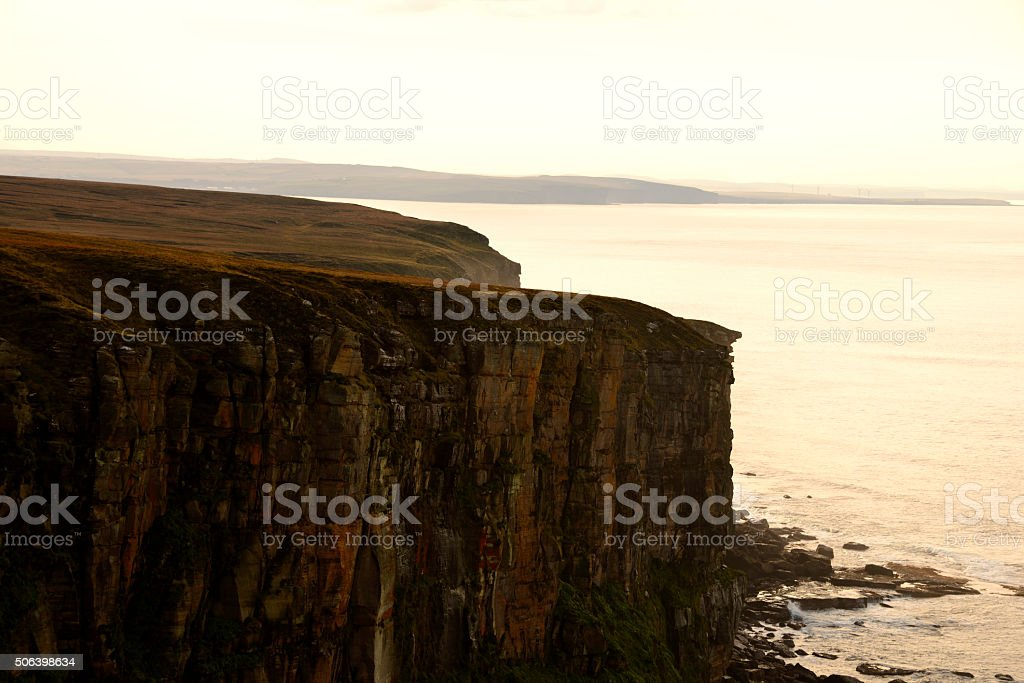 Cliff of Dunnet Head stock photo