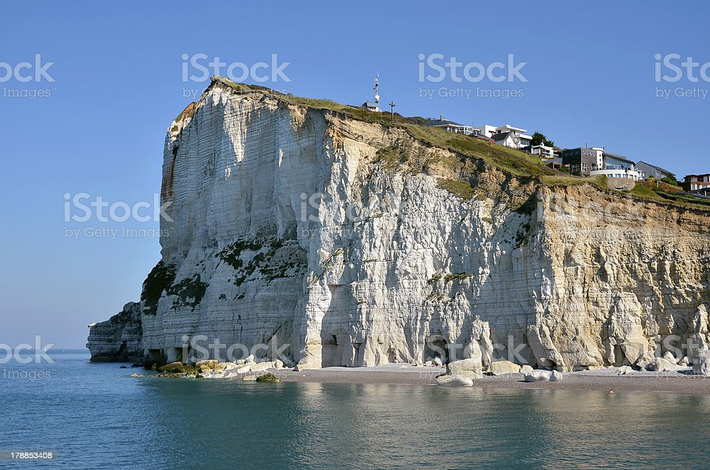 Cliff of F?camp in France stock photo
