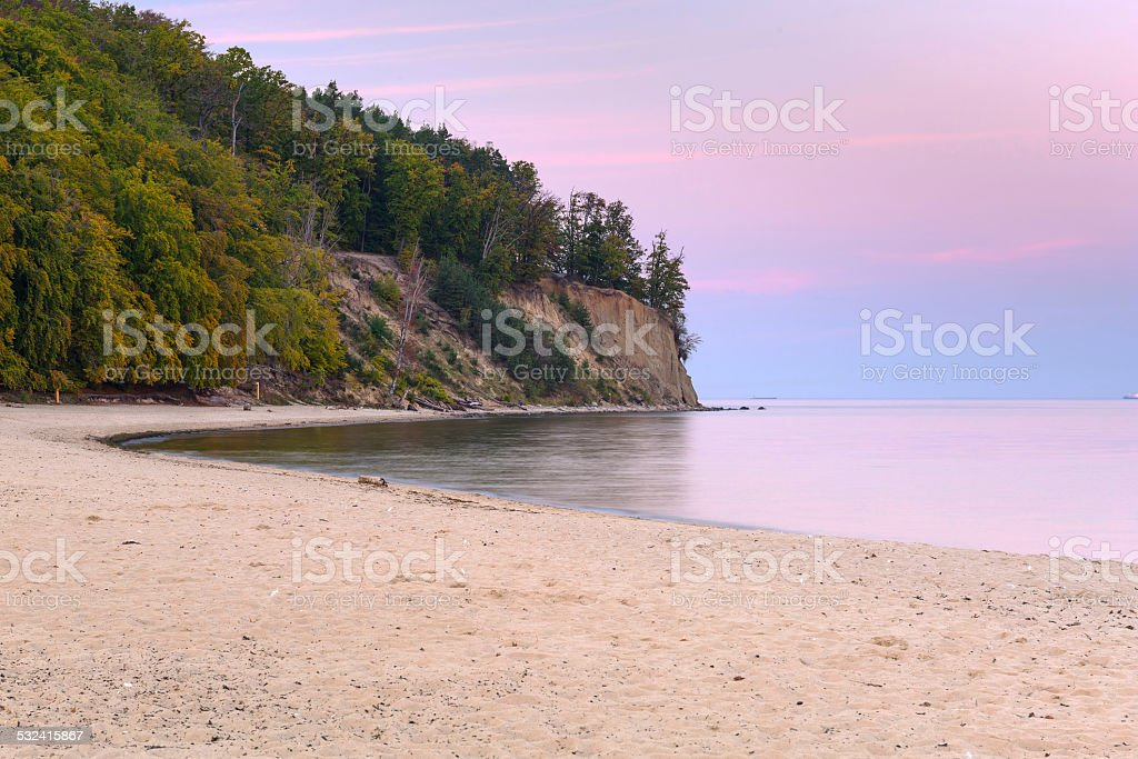 Cliff of Orlowo at Baltic sea stock photo