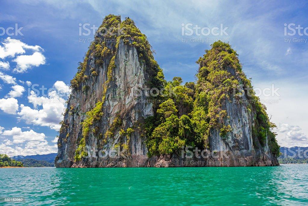 Cliff on Khao Sok National Park, Surat Thani, Thailand stock photo