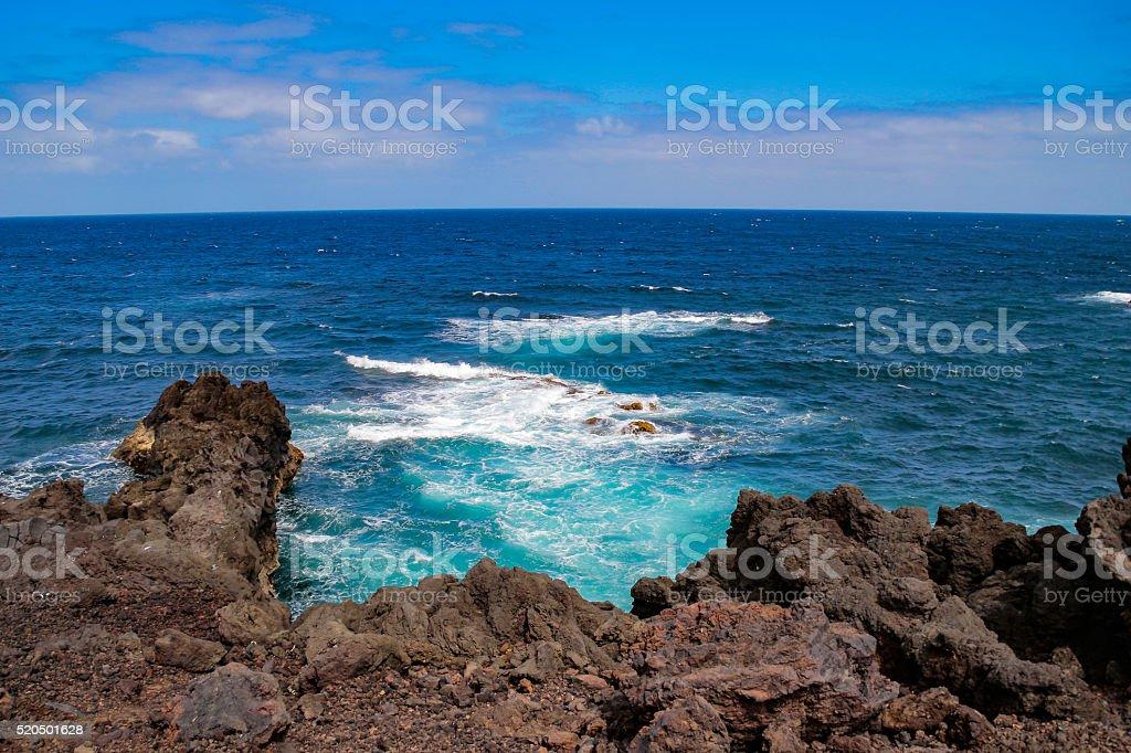 Cliff on Lanzarote stock photo