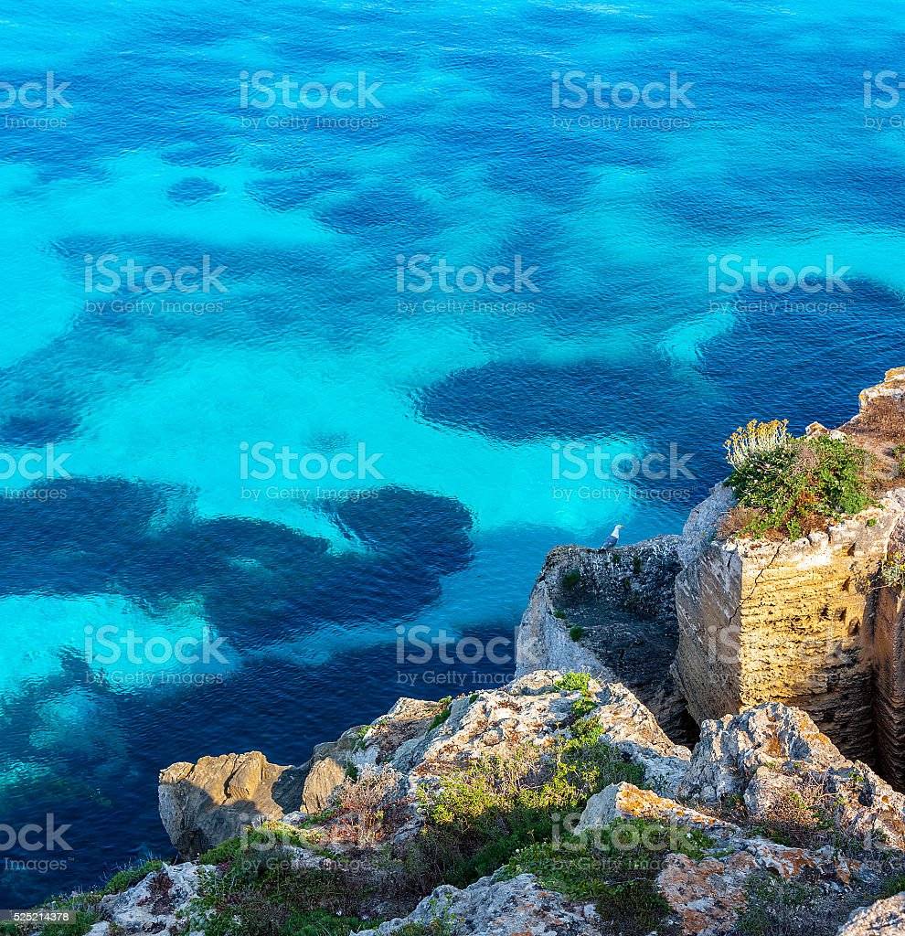 Cliff on the sea stock photo