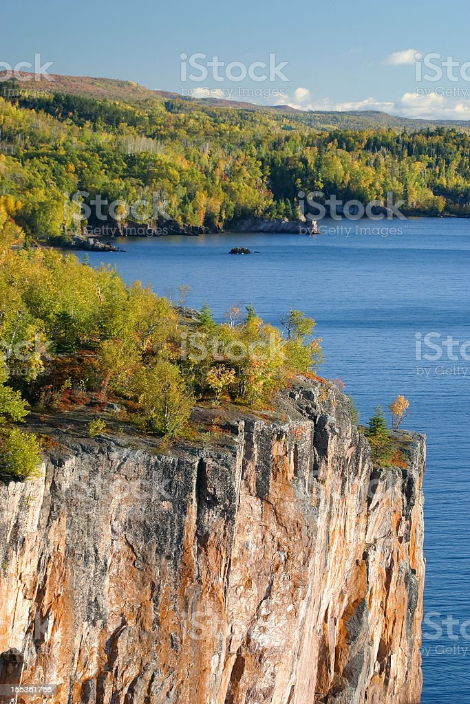 Cliff over looking Lake Superior in Minnesota. royalty-free stock photo