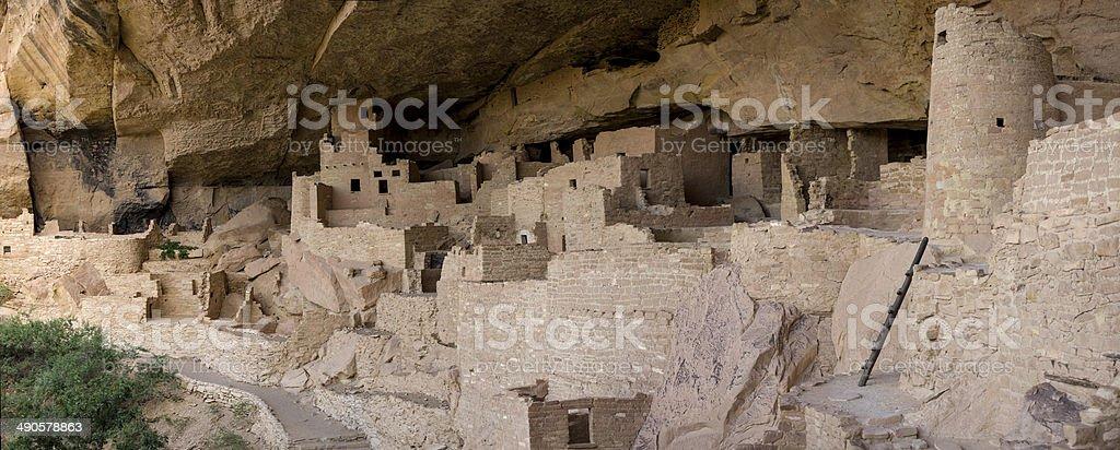 Cliff Palace at Mesa Verde National Park stock photo