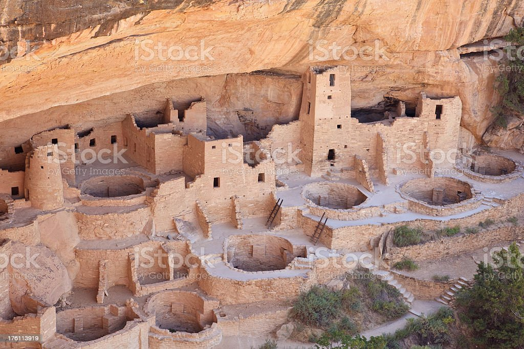 Cliff Palace in Mesa Verde National Park royalty-free stock photo