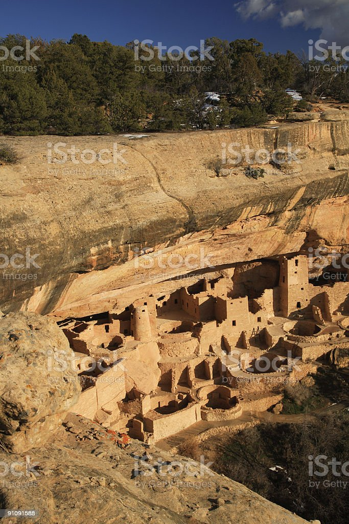 Cliff Palace, Mesa Verde royalty-free stock photo