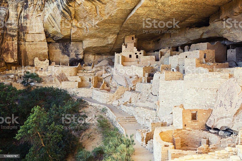 Cliff Palace Ruins - Mesa Verde National Park, Colorado stock photo