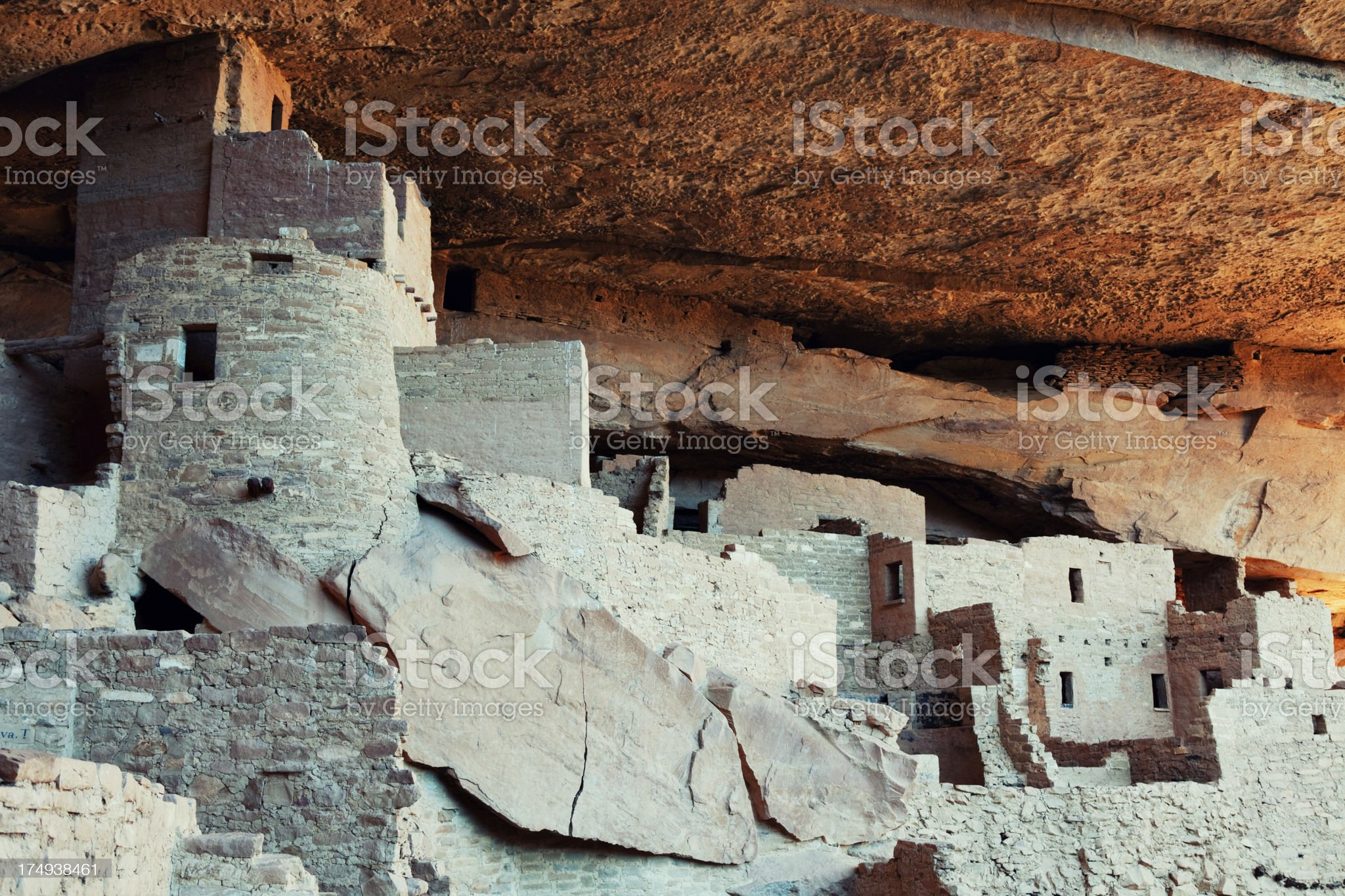 Cliff Palace Ruins - Mesa Verde National Park, Colorado royalty-free stock photo